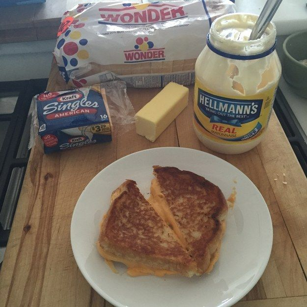 Bad news, mayo haters. | The Secret To The Perfect Grilled Cheese Is Mildly Horrifying