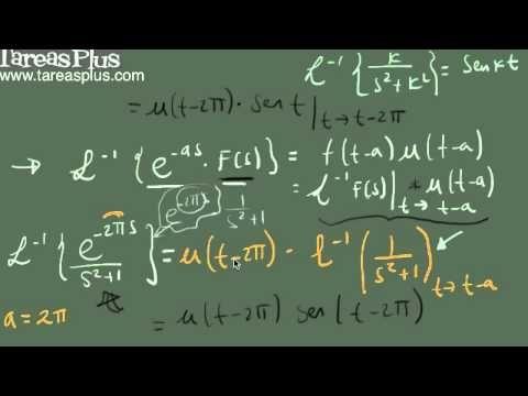 Transformada inversa de laplace y el segundo teorema de traslación