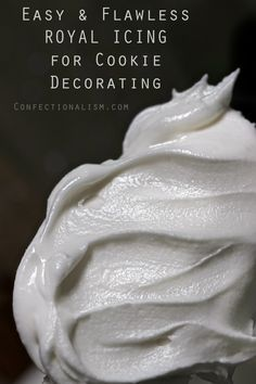 Easy Flawless Royal Icing Recipe - Great for cookie decorating