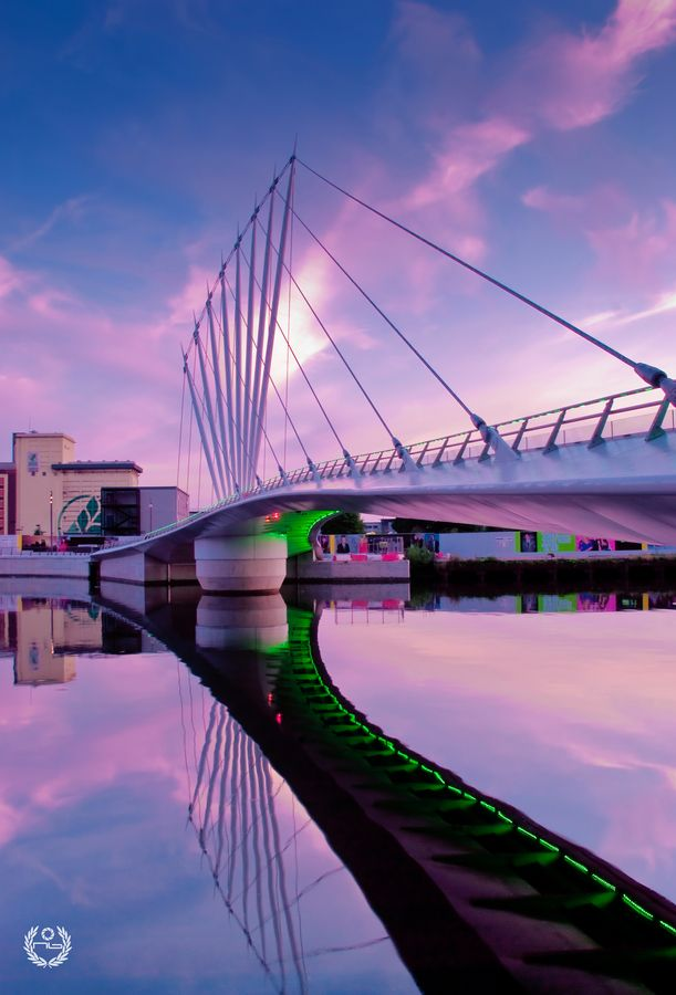 Amazing view of Bridge in #Manchester, #UK
