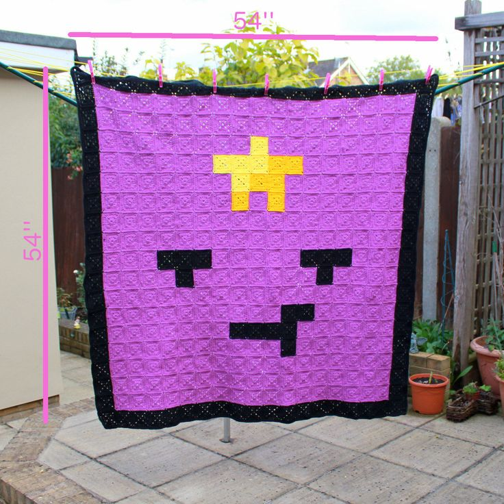 Lumpy Space Princess (Adventure Time) Crochet Blanket by EssHaych