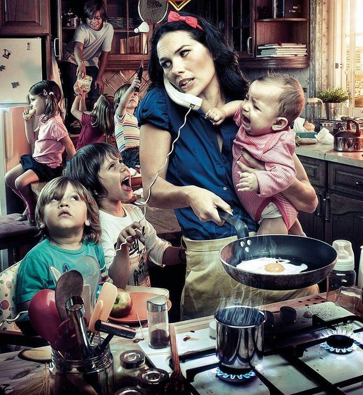 Многодетная мама смешные картинки, фото для открытки