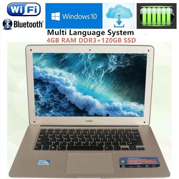 "Free DHL 14.1"" 1920X1080P ultrabook Laptop computer Intel J1900 Quad-core 2.0GHz 4GB RAM+120GB SSD WIFI Win7/10 Laptops notebook //Price: $347.86//     #Gadget"