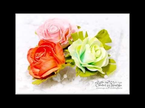 Foamiran Tea Roses Video Tutorial - YouTube