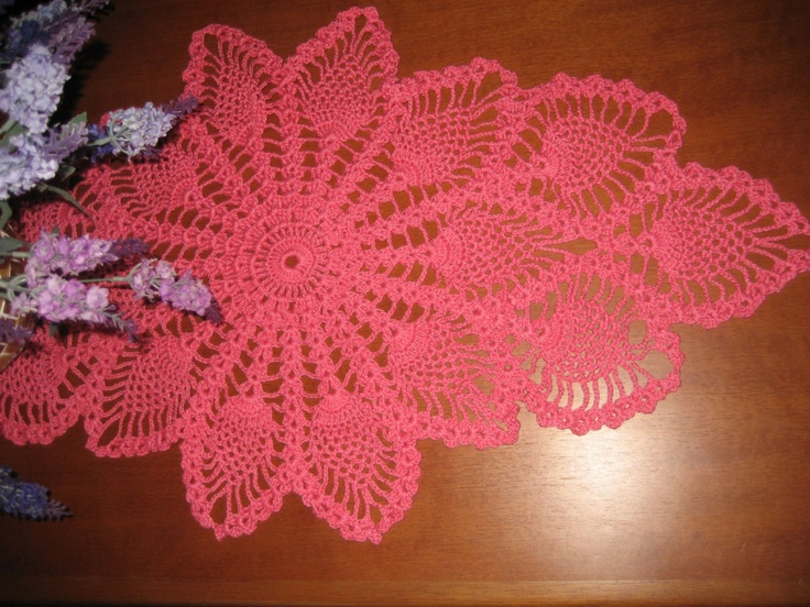 Centro de mesa em croche: Center, In Crochet, Table