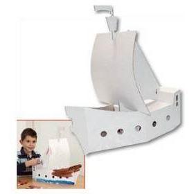 Bateau pirate en carton à peindre - Achat / Vente BATEAU - SOUS-MARIN Bateau pirate en carton à p… - Cdiscount