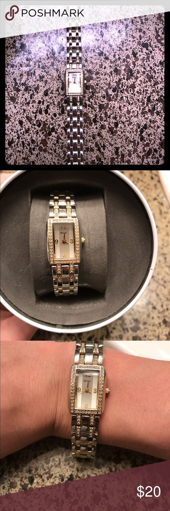 Relic watch Two-tone small faced RELIC watch. Self-adjusting. Needs new battery. Relic Accessories Watches