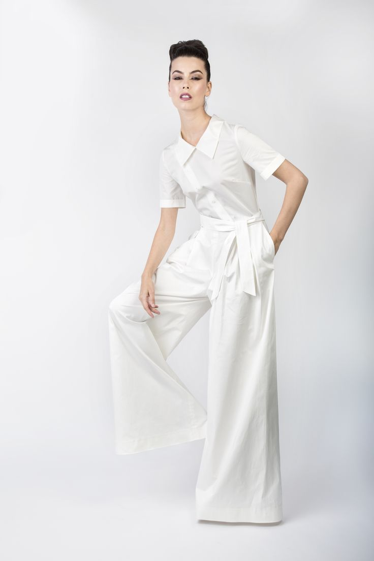 Edgy jumpsuit...pure white <3