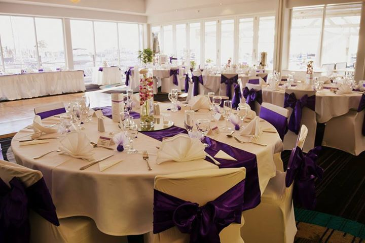 Cadbury Purple Sashes on White - stunning!