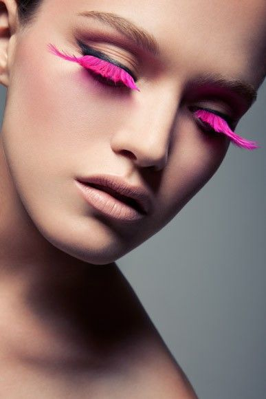 pink lashes #pink