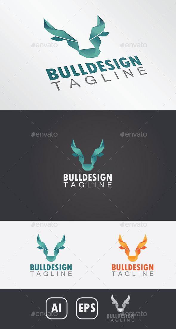 Bull Design Logo Template Vector EPS, AI #logotype Download: http://graphicriver.net/item/bull-design-logo/10929385?ref=ksioks