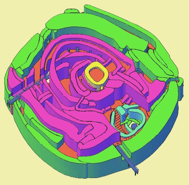 Ruta_389 Motilla del Azuer. Daimiel. (Ciudad Real). Recreación 3D, según imágenes obtenidas GEORRÁDAR 3D. Para poder visualizar en 3d se debe descargar y tener una versión actualiza de Adobe Reader…