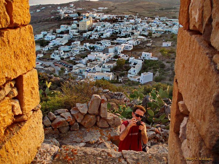 A view of Chorio, Kimolos, Greece