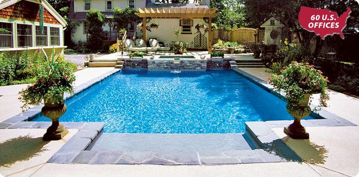 14 Best Concrete Inground Pool Designs Images On Pinterest