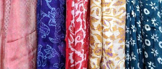 Handmade Batik Scarfs from Indonesia