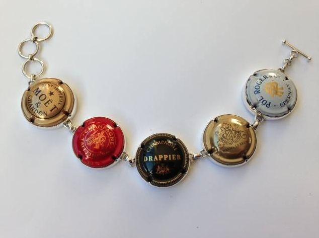 Champagne Bracelet - by Alison Blain Jewellery