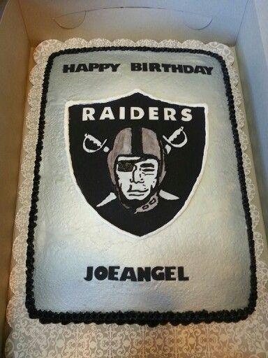 Oakland Raiders sheet Cake Cakes I ve Made Pinterest ...