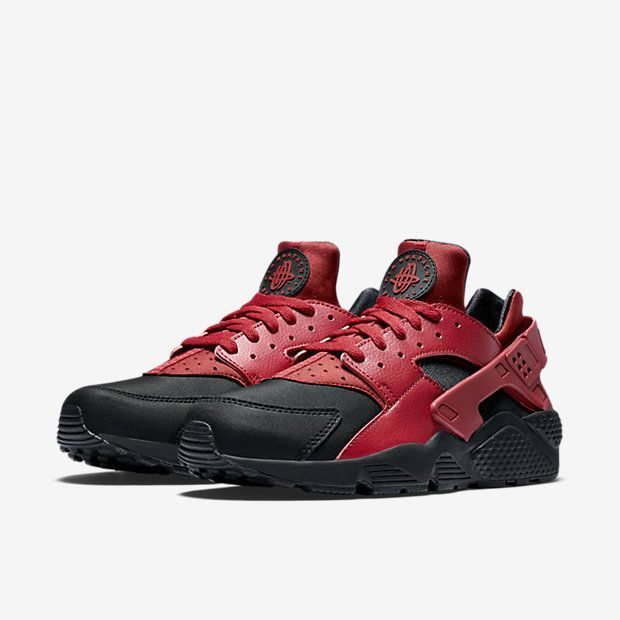 2f26ffe65cbe4 Nike Air Huarache Premium-Black-Gym Red-Gym Red-3  Sneakers ...