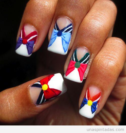 Black Butler Nail Art: Sailor Moon Nails, Sailor