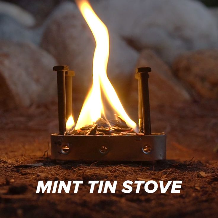Mint Tin Stove // #outdoors #camping #campinghacks