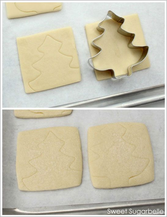 For ease in frosting, use a cookie cutter to emboss your cookies before you bake them.  Just outline those shapes with your frosting.