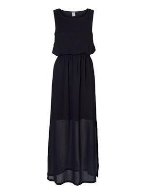 SLITTY S/L LONG DRESS VERO MODA #veromoda #maxidress #dress #black #fashion @Veronica MODA