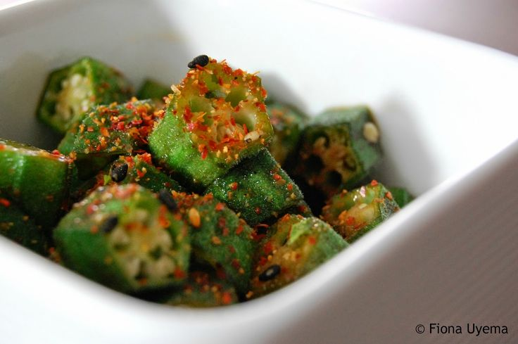 Fiona's Japanese Cooking: Japanese stir-fried okra vegetable recipe