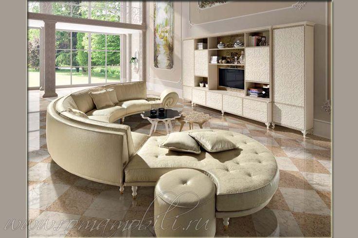 Итальянские диваны Halley Bella Vita, Халлей Белла Вита, мягкая мебель, диван, закругленный, полукруглый, бархат, из Италии
