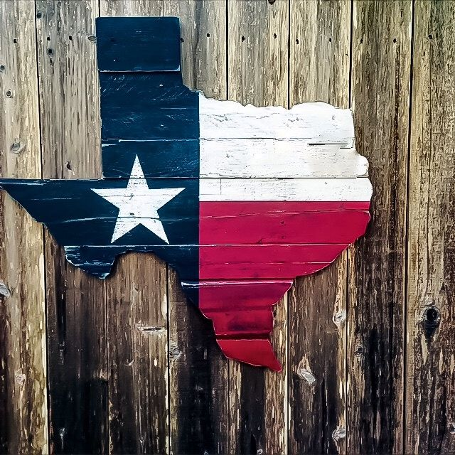 Texas Flag Wall Art Reclaimed Wood Texas Wooden Texas