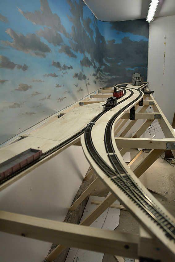 21 best backdrops images on pinterest model trains - Model railroad backdrops ...