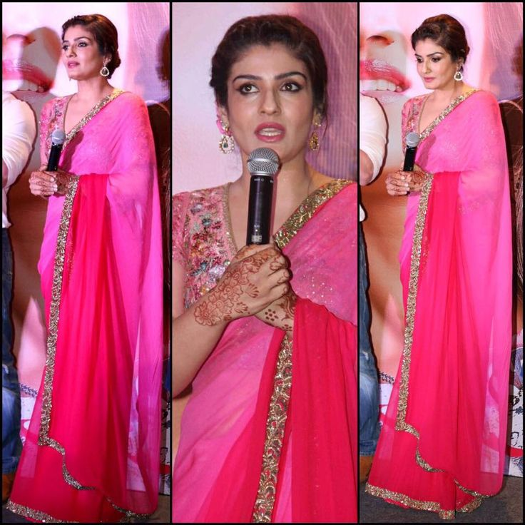 Raveena Tandon is pretty in pink in out ombré sari!  #VB #varunbahlcouture #indianweddings #indianoutfit  #saree #pinkombre #couture #indiansaree #wedding #weddinginspiration #indianfashion #fashion #womensfanshion #theweddingdiaries #traditions #elegance #elegant #floral #inspiration #bridesmaid #thevintagegarden #celebritiystye #ootd #styleinspirations #raveentandon