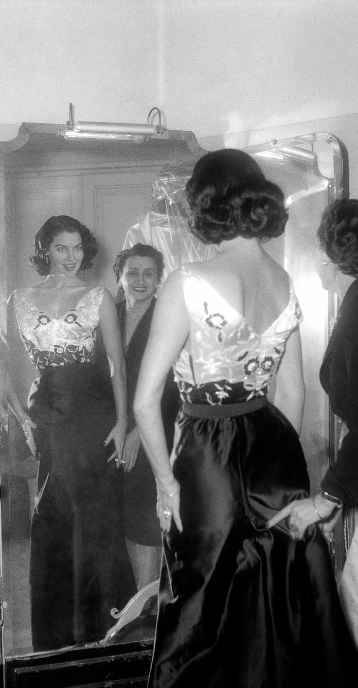 "Chopard provided a behind-the-scenes glimpse of the ""dream factory"" duing the 67th Cannes Film Festival.   Ava Gardner - fittings for La Contessa scalza - 1954"