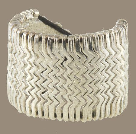 Solid Silver Coated Brass Bracelet inspired by Aztec jewellery. Cotton string closure, adjustable size. About 40mm in width and 85mm in length. A fierce yet classic looking piece.  #jewellery #Bracelets #CuffBracelets #ethnicbracelet #tribalbracelet #brassbracelet #aztecbracelet  #bohojewellery #bohoethnictribal #adjustablebracelet #boho #cuffbracelet