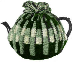 Two-tone Design Tea Cozy Vintage Knitting Pattern for download