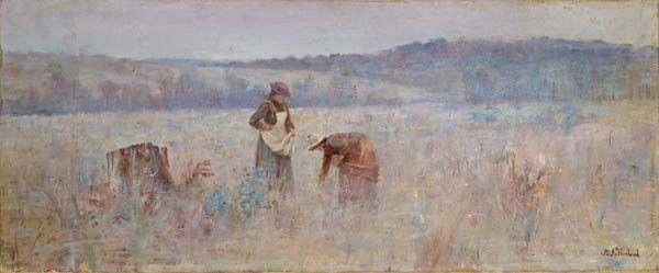 Jane Sutherland,  The mushroom gatherers (c.1895)