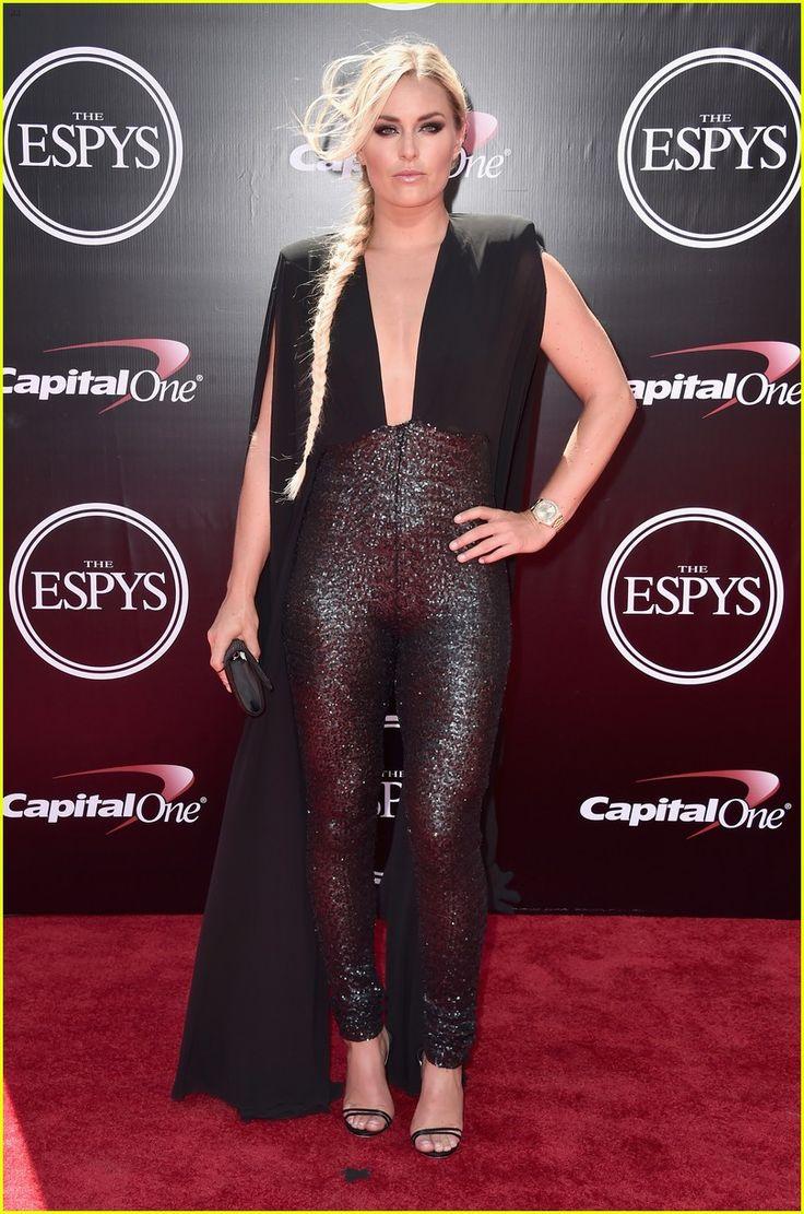 Lindsey Vonn Wears a Jumpsuit & Cape to ESPYs 2016