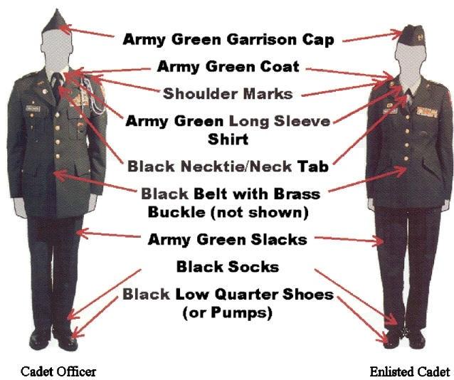 JROTC Thursday inspections Green long sleeve shirt, Army