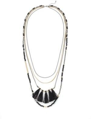 Four-Row Layered Necklace
