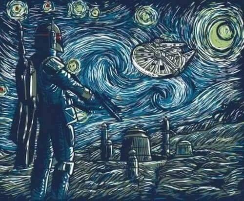 Boba Fett Starry Night  Star Wars