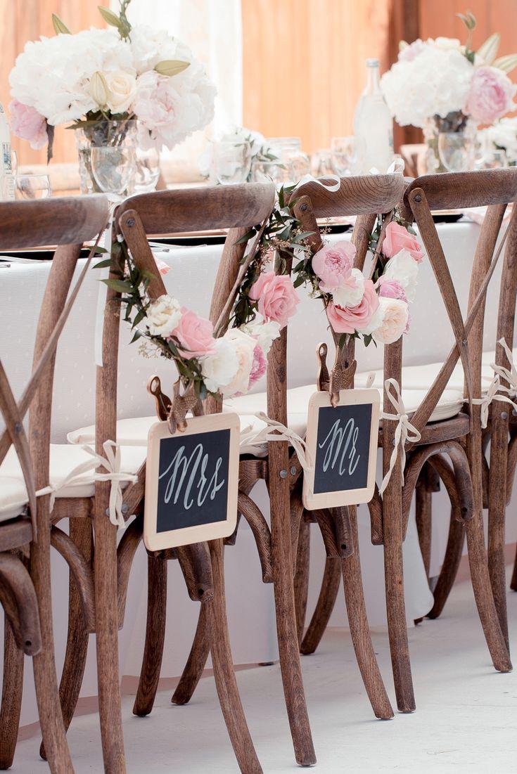 Bride & Groom Chairs  | Garden Wedding Party | http://monikahibbs.com