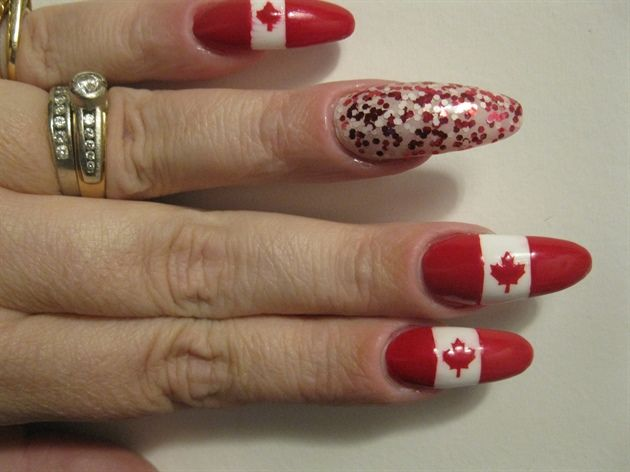 canada day nails! by candledee from Nail Art Gallery