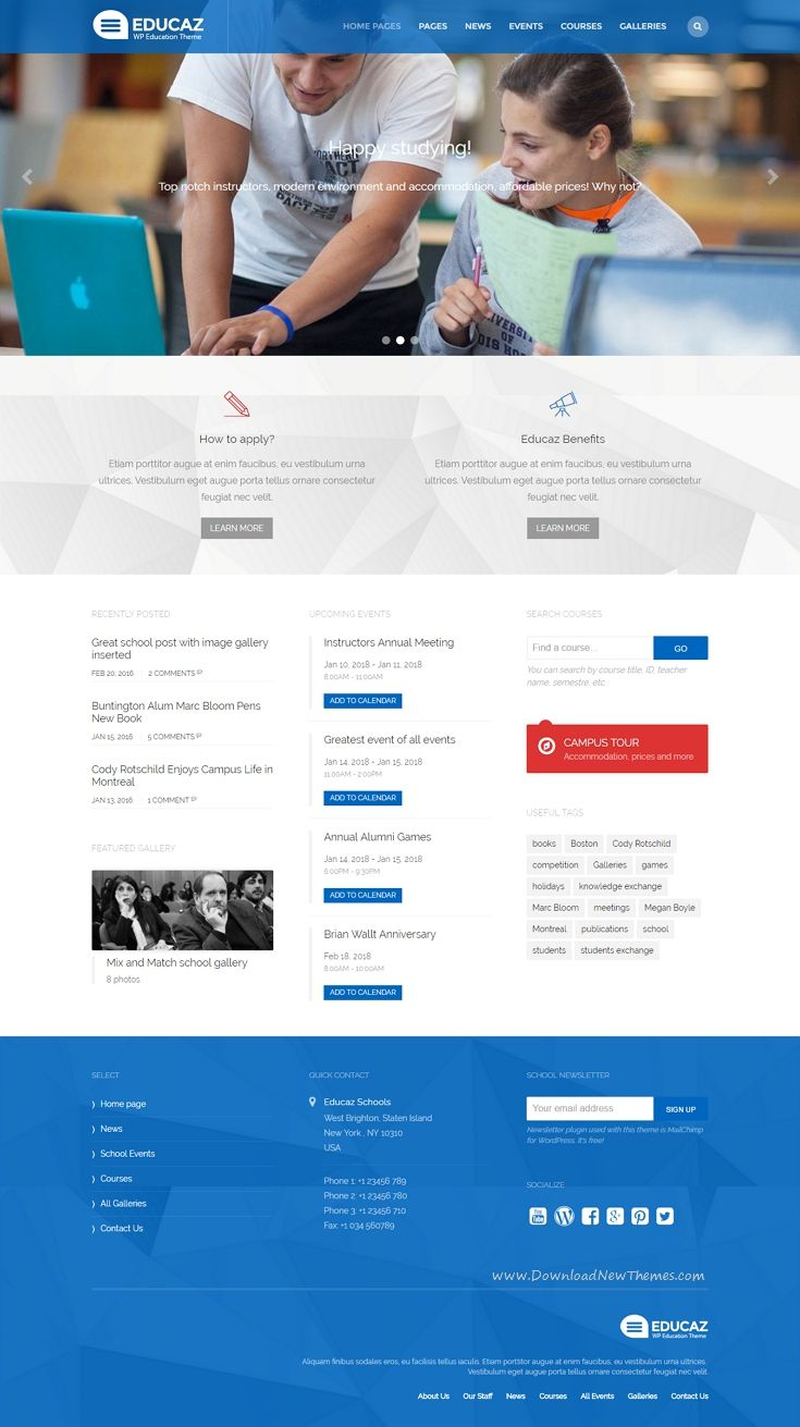 The 25 best education website templates ideas on pinterest educaz wp academic education theme pronofoot35fo Images