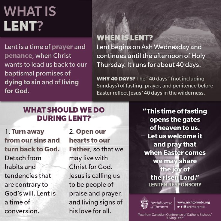 Infographic: What is Lent?