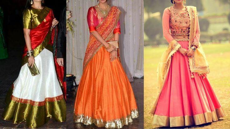 Latest Raw silk lehenga designs | Light weight Silk lehenga design ideas...