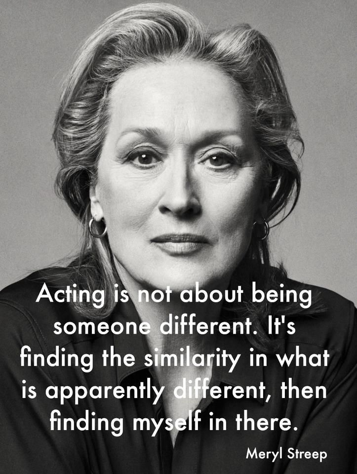 Acting is not about being someone different. It's finding the similarity in what is apparently different, then finding myself in there. This was a big general note to everyone from the NIDA auditions, pull back, connect, don't overact... be intimate and connect with who you are talking to and trust the words