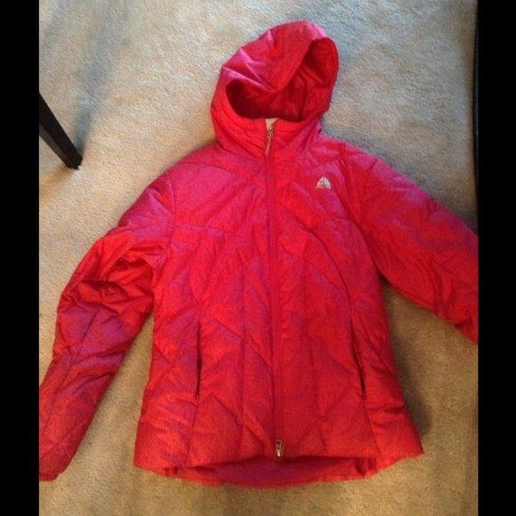 Nike winter coat size small Womens size small dark pink nike winter coat with hood. Nike Jackets & Coats