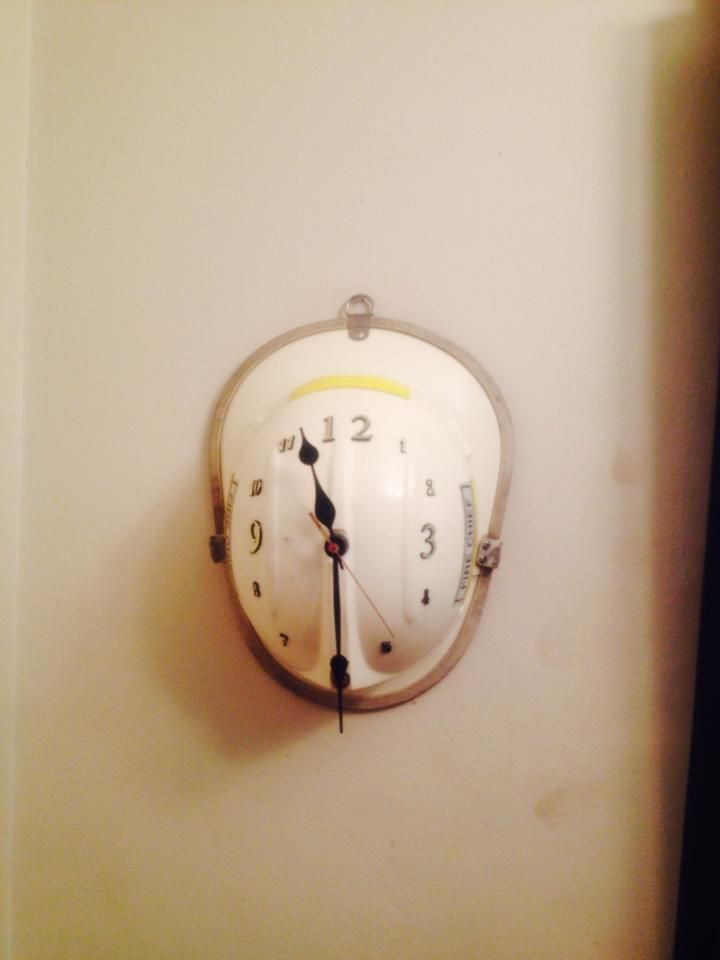 #Fire helmet turned into a wall clock. Another way of reuse and recycling old…                                                                                                                                                                                 More