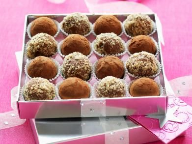 Zelfgemaakte truffels