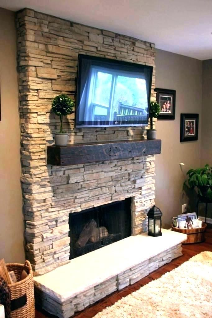 Tv Above Fireplace Mount Over Stone Mounting Gas Built In Home