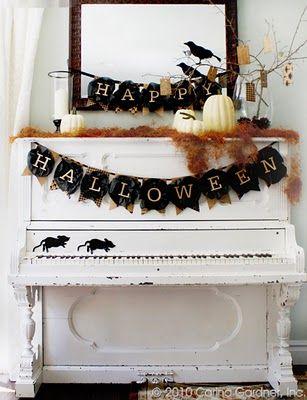 Free halloween printablesDecor Ideas, Halloween Decor, Painting Piano, The Piano, Black White, Old Piano, Halloweendecor, Halloween Banners, Happy Halloween